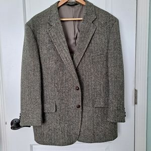 Jos A Bank Harris Tweed Jacket Wool Scotland 46S